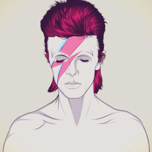 David Bowie - Litografía Romero