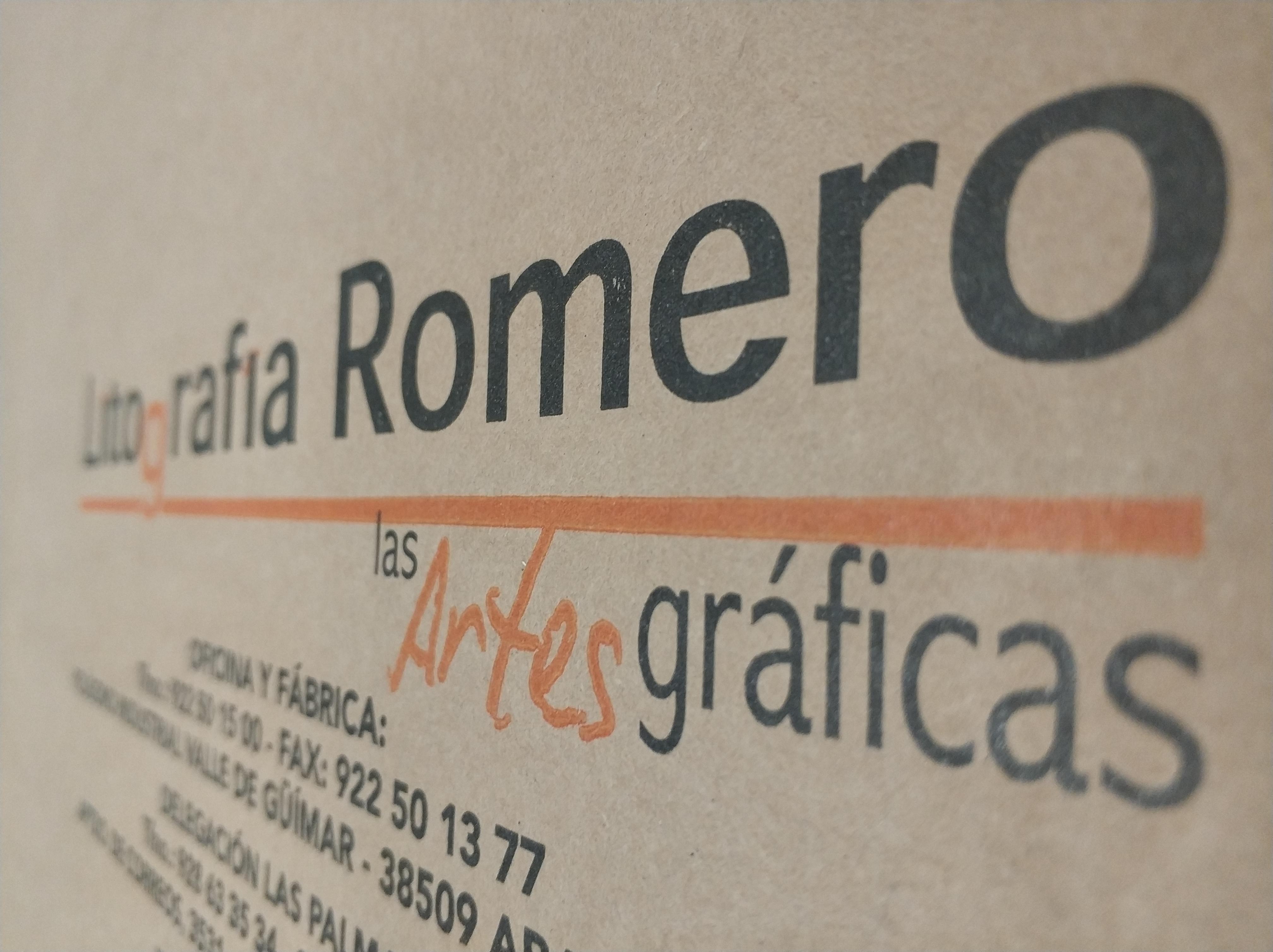 Cliché Flexografía Litografía Romero, tu imprenta digital en Canarias