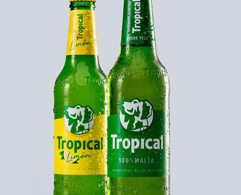 Etiqueta sostenible de Tropical elaborada en Litografía Romero
